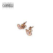 18K金镶嵌钻石耳环女时尚个性