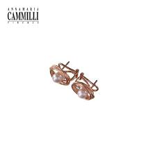 18K金镶嵌钻石宝石耳环女时尚个性
