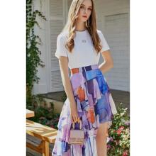 哥文花园白色T恤CRA1027060+短裙CRA1074350