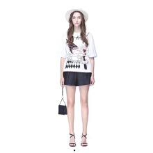 哥文花园白色T恤CRA2021810+黑色短裤CRA2064230