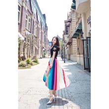 哥文花园雷梦婷系列:白色T恤CRA2021120+彩虹半裙CRA2071040